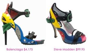 Balenciaga\'s v. Steve Madden\'s shoe