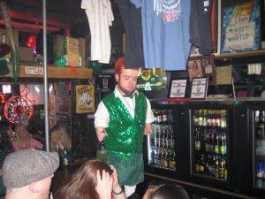lil man dressed as leprechaun