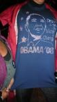 Rocking Obama gear!